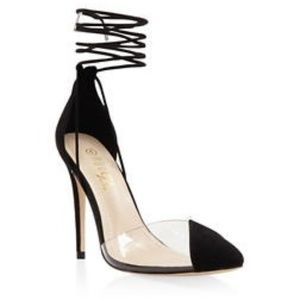 CUTE lace up heels! - Worn ONCE
